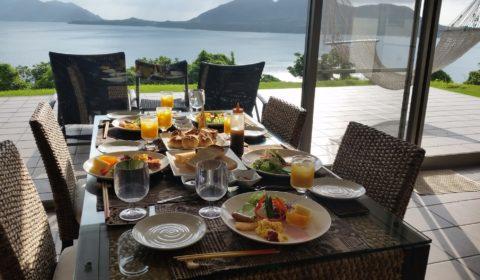 海に行く前もゆっくり朝食