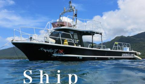 海のメロディーの船
